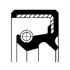 Lastbil Packbox, urtrampningslageraxel