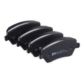 601641 Bremsbelagsatz, Scheibenbremse VALEO 601641 - Große Auswahl - stark reduziert