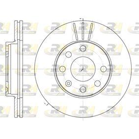DSX606110 ROADHOUSE Vorderachse, belüftet Ø: 236mm, Lochanzahl: 6, Bremsscheibendicke: 20mm Bremsscheibe 6061.10 günstig kaufen