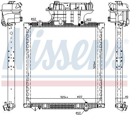 NISSENS Kühler, Motorkühlung für MAN - Artikelnummer: 606224