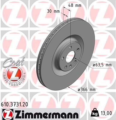 ZIMMERMANN Bremsscheibe 610.3731.20