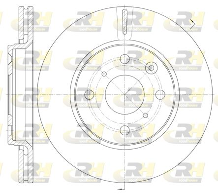 ROADHOUSE: Original Scheibenbremsen 61003.10 (Ø: 247mm, Ø: 247mm, Lochanzahl: 4, Bremsscheibendicke: 20mm)