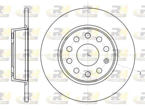 VW Disques de frein d'Origine 61340.00