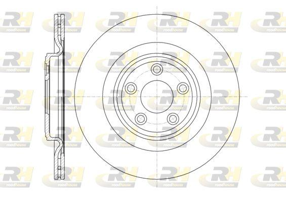 DSX6137510 ROADHOUSE Hinterachse, belüftet Ø: 326mm, Lochanzahl: 5, Bremsscheibendicke: 20mm Bremsscheibe 61375.10 günstig kaufen