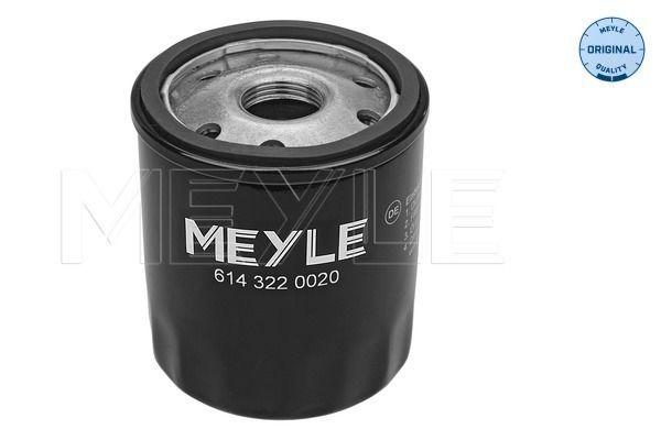Opel KARL 2017 Oil filter MEYLE 614 322 0020: Screw-on Filter, ORIGINAL Quality