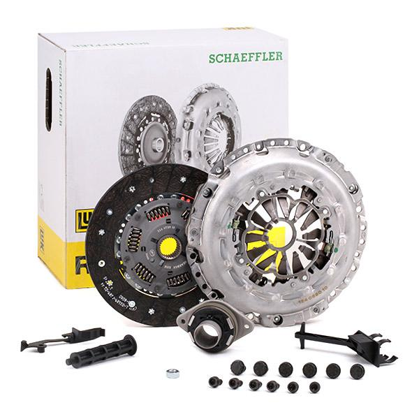 Audi A6 2011 Clutch kit LuK 624 3759 00: for engines with dual-mass flywheel, with mounting tools, Check and replace dual-mass flywheel if necessary., Requires special tools for mounting, with clutch release bearing, with screw set