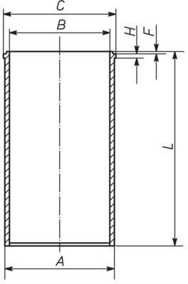 MAHLE ORIGINAL Cylinder Sleeve for NISSAN - item number: 640 WV 03 00