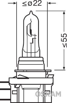OSRAM: Original Nebelscheinwerfer Glühlampe 64176CBI ()