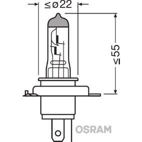 Moto OSRAM X-RACER 60/55W, H4, 12V Glühlampe, Fernscheinwerfer 64193XR-01B günstig kaufen