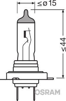 64210L Крушка с нагреваема жичка, фар за дълги светлини OSRAM Test