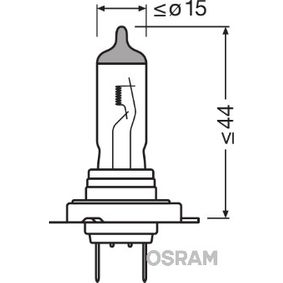 64210L Kvēlspuldze, Tālās gaismas lukturis OSRAM kvalitatīvas orģinālās
