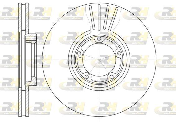 Купете DSX651910 ROADHOUSE предна ос, вентилиран Ø: 270мм, Ø: 270мм, брой на дупките: 5, дебелина на спирачния диск: 24мм Спирачен диск 6519.10 евтино