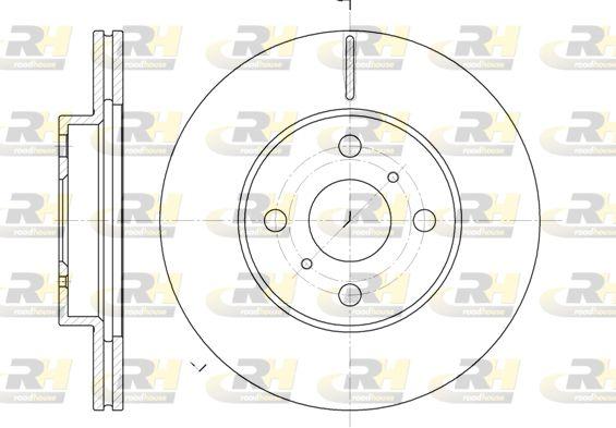DSX663510 ROADHOUSE Vorderachse, belüftet Ø: 255mm, Lochanzahl: 4, Bremsscheibendicke: 20mm Bremsscheibe 6635.10 günstig kaufen