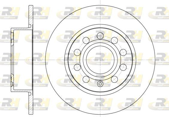 DSX664900 ROADHOUSE Hinterachse, Voll Ø: 254,7mm, Ø: 254,7mm, Lochanzahl: 9, Bremsscheibendicke: 9,9mm Bremsscheibe 6649.00 günstig kaufen