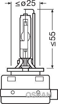 Köp OSRAM 66548 - Extra strålkastare till Volkswagen: 186 42V 25W PK32d-1 4500K Xenon