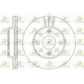 DSX665510 ROADHOUSE Vorderachse, belüftet Ø: 235,7mm, Lochanzahl: 6, Bremsscheibendicke: 20mm Bremsscheibe 6655.10 günstig kaufen