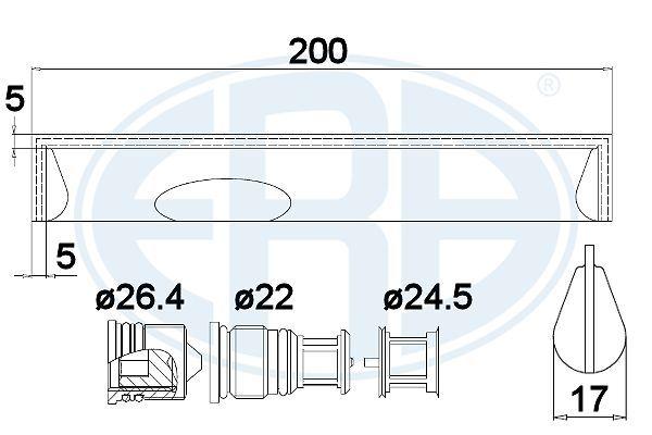 Origine Déshydrateur climatisation ERA 668011 ()
