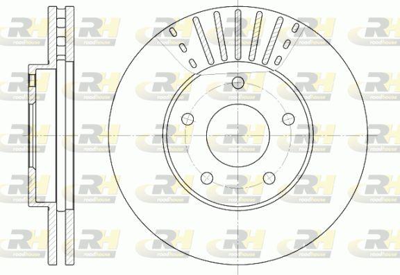 DSX668110 ROADHOUSE Vorderachse, belüftet Ø: 279,7mm, Lochanzahl: 5, Bremsscheibendicke: 28mm Bremsscheibe 6681.10 günstig kaufen