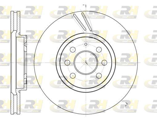 DSX668410 ROADHOUSE Vorderachse, belüftet Ø: 279,7mm, Ø: 279,7mm, Lochanzahl: 6, Bremsscheibendicke: 25mm Bremsscheibe 6684.10 günstig kaufen