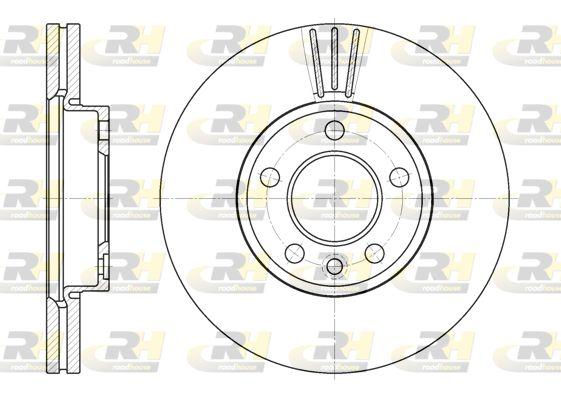 VW Disque de frein d'Origine 6708.10