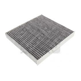 67240 MAPCO Aktivkohlefilter Breite: 234mm, Höhe: 30mm, Länge: 255mm Filter, Innenraumluft 67240 günstig kaufen