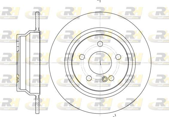DSX678700 ROADHOUSE Hinterachse, Voll Ø: 300mm, Ø: 300mm, Lochanzahl: 5, Bremsscheibendicke: 10mm Bremsscheibe 6787.00 günstig kaufen