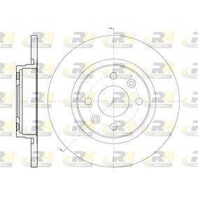 DSX680900 ROADHOUSE Vorderachse, Voll Ø: 258,8mm, Lochanzahl: 4, Bremsscheibendicke: 12mm Bremsscheibe 6809.00 günstig kaufen