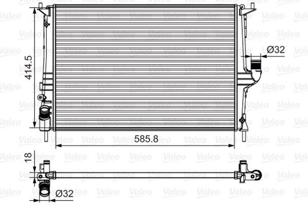 700801 VALEO Aluminium Kühler, Motorkühlung 700801 günstig kaufen