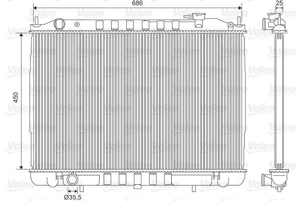 701611 VALEO ohne Kühlmittelregler, Aluminium Kühler, Motorkühlung 701611 günstig kaufen