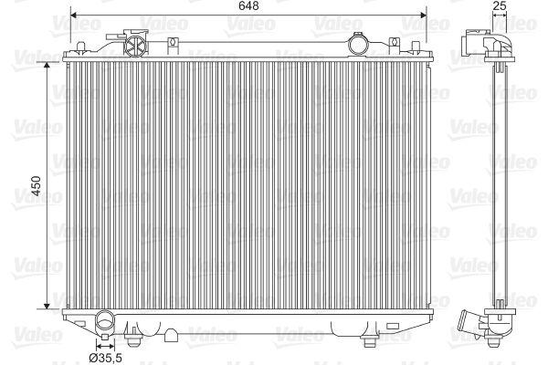 701615 VALEO ohne Kühlmittelregler, Aluminium Kühler, Motorkühlung 701615 günstig kaufen