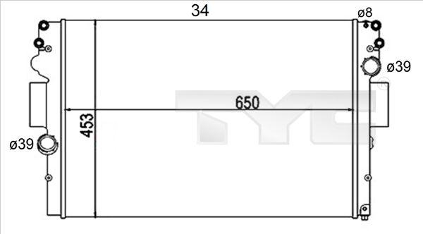 OE Original Autokühler 715-0004-R TYC