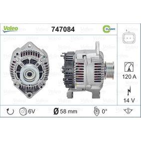 VALEO Lichtmaschine//Generator 120A Für RENAULT KANGOO 747084