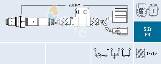 Lambda sensor 75088 FAE — only new parts