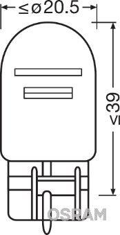 Ricambi NISSAN 350 Z 2007: Lampadina, Luce stop / Luce posteriore OSRAM 7515-02B a prezzo basso — acquista ora!