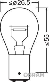 Lampadina luce posteriore 7538LDR-01B OSRAM — Solo ricambi nuovi