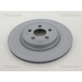 8120 101085C TRISCAN Innenbelüftet, beschichtet Ø: 326mm, Lochanzahl: 5, Bremsscheibendicke: 20mm Bremsscheibe 8120 101085C günstig kaufen
