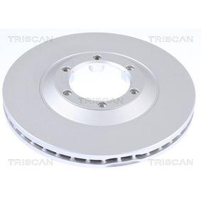 8120 101121C TRISCAN COATED belüftet, beschichtet Ø: 280mm, Lochanzahl: 6, Bremsscheibendicke: 27mm Bremsscheibe 8120 101121C günstig kaufen