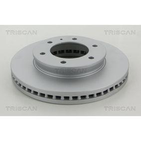 8120 16155C TRISCAN belüftet, beschichtet Ø: 302mm, Lochanzahl: 6, Bremsscheibendicke: 32mm Bremsscheibe 8120 16155C günstig kaufen