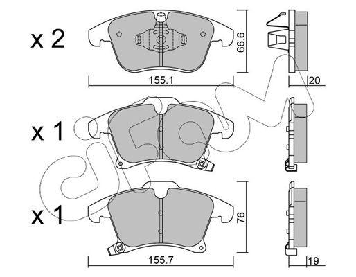 CIFAM Bremsbelagsatz, Scheibenbremse 822-1039-0