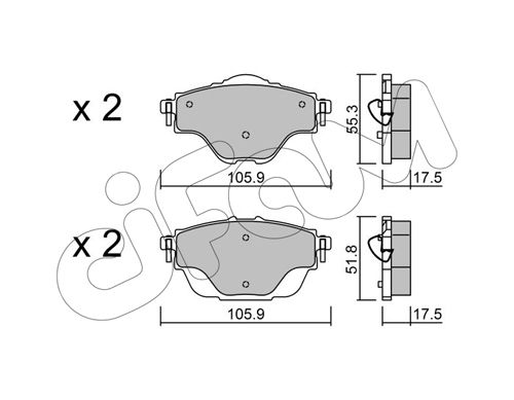 Bremsbelagsatz CIFAM 822-988-0