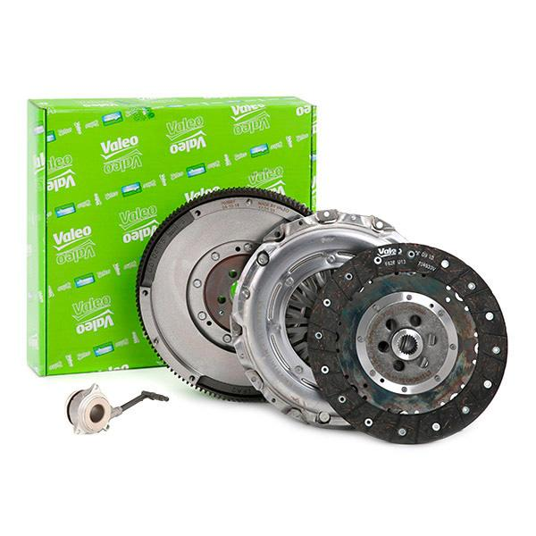 Volkswagen GOLF 2014 Clutch kit VALEO 837397: for engines with dual-mass flywheel, with central slave cylinder, with clutch pressure plate, with clutch plate, with flywheel, with screw set