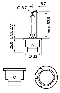 85122WHV2C1 Glödlampa, fjärrstrålkastare PHILIPS 37729333 Stor urvalssektion — enorma rabatter