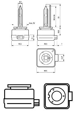 85415WHV2C1 Крушка с нагреваема жичка, фар за дълги светлини PHILIPS - на по-ниски цени