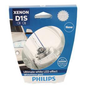 Achat de D1S PHILIPS Xenon WhiteVision gen2 35W, D1S (lampe à décharge), 85V Ampoule, projecteur longue portée 85415WHV2S1 pas chères