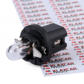 BAX85d KLAXCAR FRANCE Sockelglödlampa, BAX 8,5d, 12V, 1,2W Glödlampa, instrumentbelysning 86364z köp lågt pris