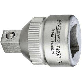 8858-2 HAZET Lengte: 26mm, Aandrijving: 3/8duim, Aandrijving: 1/4duim Vergrotingsadapter, ratel 8858-2