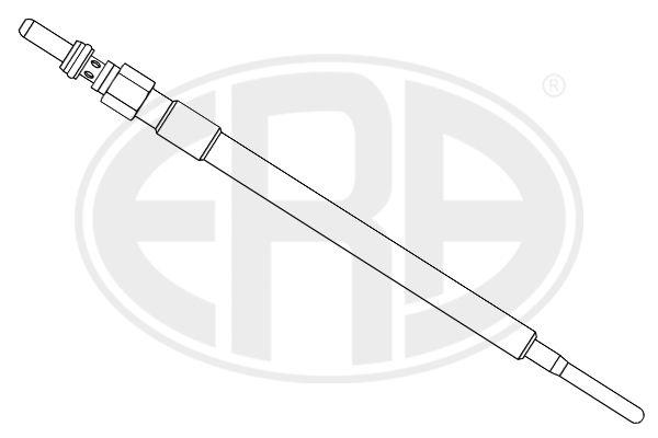 886012 ERA 4,4V M8X1 Länge über Alles: 148,5mm, Gewindemaß: M8X1 Glühkerze 886012 günstig kaufen