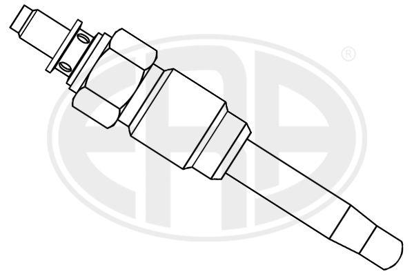 886123 ERA 11V Länge über Alles: 68mm, Gewindemaß: M12X1,25 Glühkerze 886123 günstig kaufen