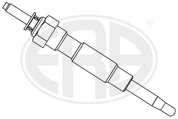 886126 ERA 12V M10X1 Länge über Alles: 91mm, Gewindemaß: M10X1 Glühkerze 886126 günstig kaufen