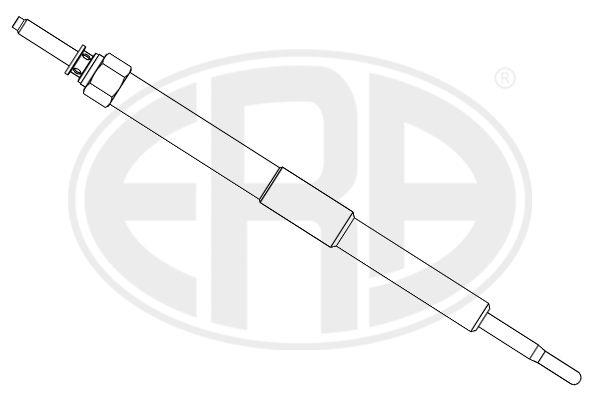 SUBARU WRX Glühkerzen - Original ERA 886139 Länge über Alles: 160mm, Gewindemaß: M10X1,25